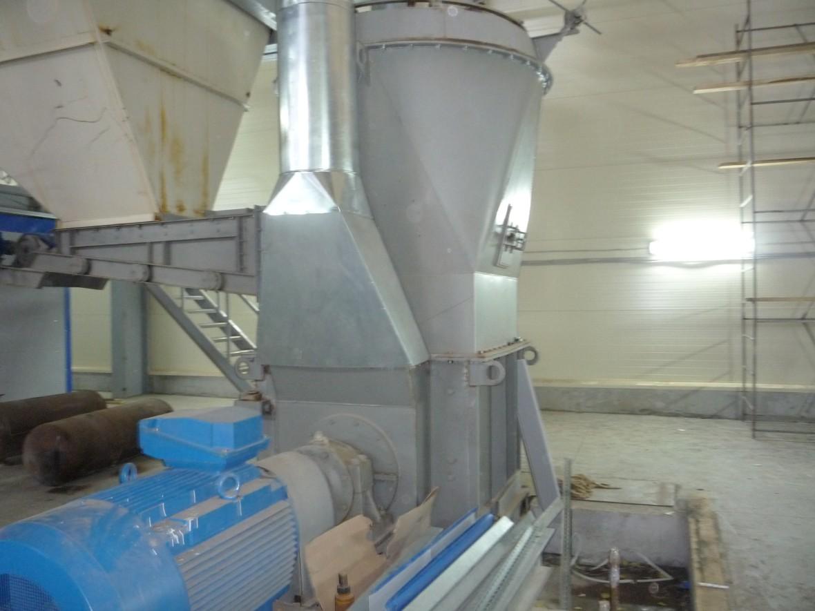помол гипсового щебня в молотковой мельнице