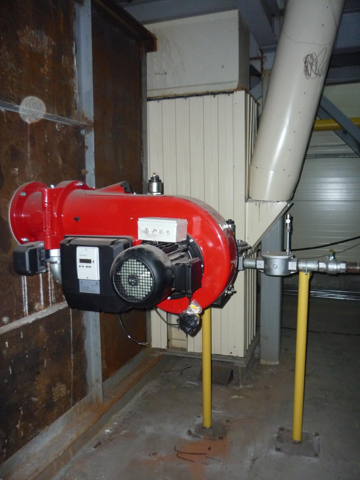 Сжигание газообразного топлива в автоматизированной горелке