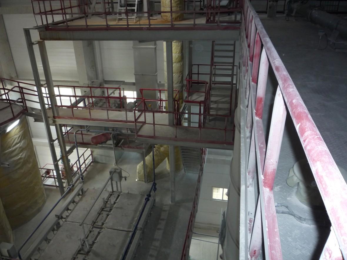 Расположение оборудования на технологической этажерке