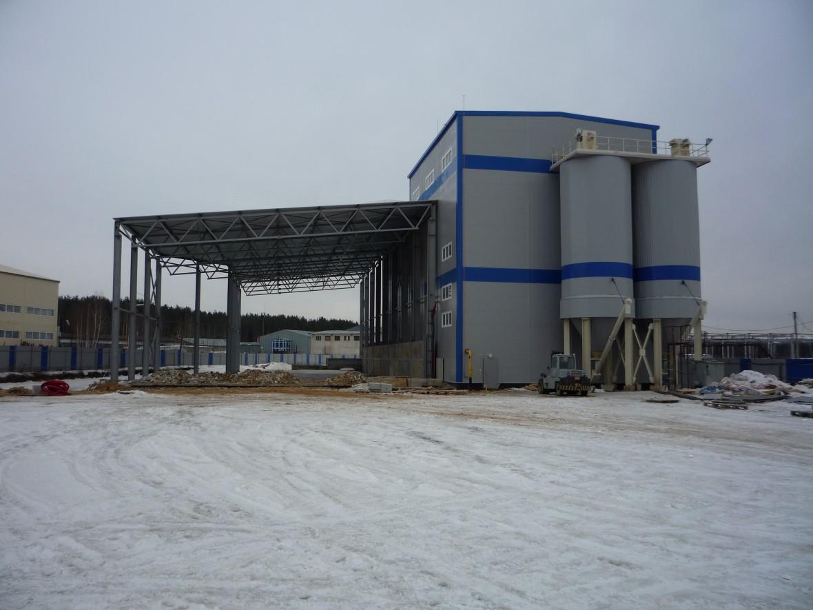Завод по производству строительного гипса
